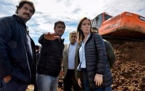 MARÍA EUGENIA VIDAL RECORRIÓ UNA SERIE DE OBRAS HÍDRICAS EN GENERAL VILLEGAS